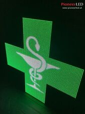 96x96 LED CROSS PHARMACY UK !!! Programmable !!! Display Message Scrolling Sign