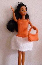 vêtements pour  barbie ou bratz fourrure robe sac   NEUF lavables et résistants