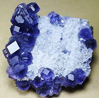 Rare natural transparent gem level Blue fluorite mineral specimen/China
