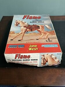 VINTAGE MARX JANE WEST FLAME HORSE with BOX, Johnny West