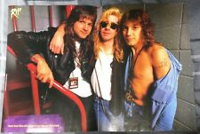 DEF LEPPARD / STEVE CLARK WITH JEFF KEITH OF TESLA / MAGAZINE CENTERFOLD PINUP