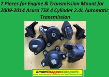 7 Engine & Transmission Mount for 2009 2010 2011 2012 -2014 Acura TSX 4 Cyl 2.4L