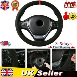 "Universal 15""/38cm Suede Auto Car Steering Wheel Cover Non-slip Protector DIY UK"