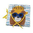 "Mud Pie E1 The Kids Shoppe Baby Keepsake Let's Get Dressed 7.5"" Soft Book"