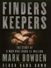 Finders Keepers:The Story of a Man Who Found $1 Million Mark Bowden hc dj lrg pr