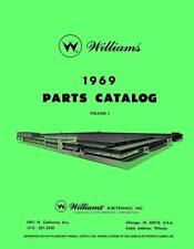 1969 Williams Pinball Machine Parts Catalog Volume 1 Service & Repair Manual Pps