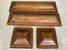 Vintage Hand Carved Wooden Newel Post Caps x 4 Heavy Quality Architectural