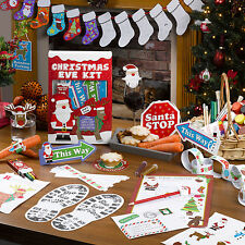 CHRISTMAS EVE SANTA STOP HERE SIGNS & DECS CRAFT KIT FOR KIDS
