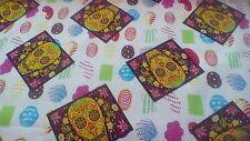 100% cotton fabric Skull Cream Candy print per metre