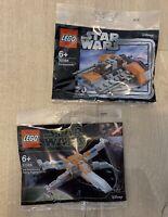 LEGO Star Wars 30386 Poe Dameron's X-wing Fighter 30384 Snowspeeder - New & Seal