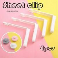 4pcs Bed Sheet Clips Non-slip Fastener Comforter Bed Duvet Holder Quilt Gripper/