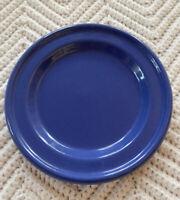 "Emile Henry 6"" Dessert Plate Cobalt Blue Stoneware France Dinnerware Ceramic EuC"