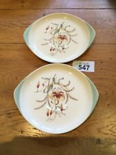 WEDGWOOD TIGER LILY 2 X Soup Saucers VINTAGE RETRO