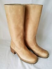 AMANDA SMITH Womens Austin Tan Leather Western Riding /Motorcycle Boots Size 6M