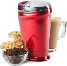 Andrew James Electric Coffee Grinder Bean Nut & Spice Mill - 150w - Red