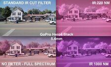 720nm X-Ray Vision Glass Lens Filter Cap for IR MOD Gopro HD Hero5 Hero6 Black