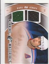 2011/12 SPx Winning Materials Eric Lindros dual game used jersey Rangers