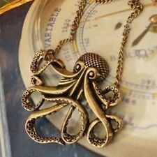 1x Vintage Broanze Caribbean Pirate Octopus Pendant Long Sweater Chain Necklace