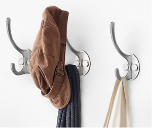 Stainless Steel Hook Coat Clothes Door Holder Single Hook Wall Hanger With Fixin