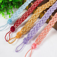 Fashion Colorful V-Cord Braided Rope Window Curtain Tieback 2 Pack S