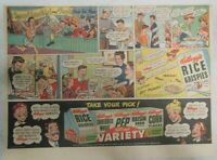 Kellogg's Cereal Ad: Snap! Crackle! and Pop! from 1947 Size: 7.5 x 10 inches