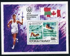 MALAGASY 1976 MONTREAL OLYMPIC SWIMMING SOUVENIR SHEET COMPLETE!