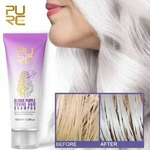 No Yellow Blonde Hair Shampoo Anti Brass Off Purple Shampoo Shiny Color Dyed