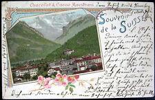 SWITZERLAND~Schweiz~1901 Souvenir de la Suisse ~ Chocolat & Cacao Maestrani