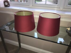 Laura Ashley Ruby Red Lampshades - Set of 2 -25x30x21