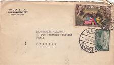 Equateur (Equador) Lettre/Cover Quito pour la France 1947