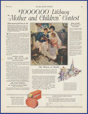 Vintage 1924 LIFEBUOY Health Soap Ephemera 20's Print Ad