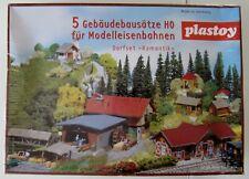 NEU/OVP: PLASTOY 5 Gebäudebausätze DORFSET ROMANTIK! H0! In Folie!