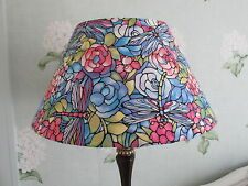 Handmade Coolie Lampshade 40cm Stained Glass Dragonfly Art Nouveau Style fabric