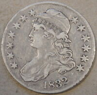 1832 Capped Bust Half Dollar 50c VF-XF Dipped at some time