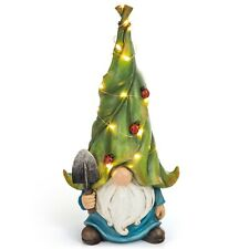 Vp Home Whimsical Garden Statue Gnome Solar Powered Led Outdoor Decor Light