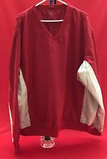 Windshirt, Golf, Red with Beige Sleeves and Side Insets, Acuity, Polyester, Xxl