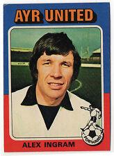 Topps like A&BC Scottish Football Card 1975 Blue Back #35 Alex Ingram Ayr United
