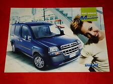 """FIAT DOBLO' """"MALIBU """"speciale prospetto modello di 2002"""