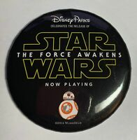 """Disney Parks Star Wars The Forces Awakens BB-8 3"""" Button Badge"""