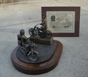 1993 Harley Davidson Motorcycle BRONZE Statue 90th Anniversary The Reunion