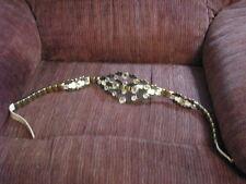 Vintage Jose Cotel Leather, Metal and Glass Crystal Belt