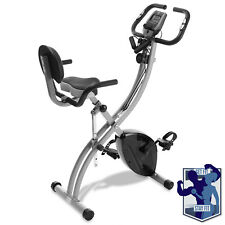 Open Box - Folding Stationary Indoor Cycling Exercise Bike with Resistance Bands