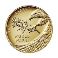 2020 W End of World War II 75th Anniversary 24-Karat Gold Coin NIB**