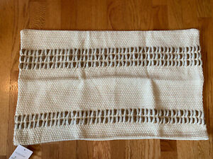 """NEW Pottery Barn Reed Striped lumbar pillow cover, 16x26"""", neutral"""