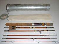 "Vintage Wright & McGill Eagle Claw Trailmaster 6 Pc Fishing Rod Set 6TMU 6'9"""