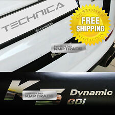 Rear Bumper Protecter Decal Matt Black Chrome Logo For KIA 2010-2015 Optima K5
