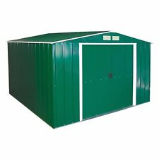 DuraMax 10 X 10ft Eco Metal Shed With OW Trim - Green