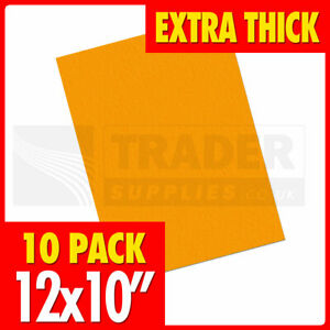 320x250mm THICK Fluorescent Rectangle Orange 10 Per Pack Price Card Day Glo Neon