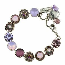 Mariana Elizabeth Silver Plated Crystal Tennis Bracelet