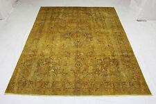Vintage tapis de perse Top Offert Couleur moutarde 380x290 noué à la main 3568